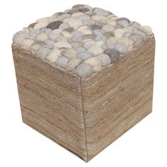 Carson Pouf in Natural