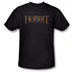 The Hobbit: The Desolation of Smaug Logo Adult Black T-Shirt size L
