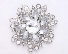 Rhinestone brooches for your wedding and DIY by Crystalitzy