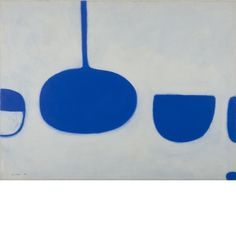 William Scott, Blues II, 1969, Gouache on paper, 58 x 77 cm / 23 x 30 in, Irish Museum of Modern Art, Dublin. Heritage Gift by the Bank of Ireland from the Bank of Ireland collection | 2008, IMMA.2617