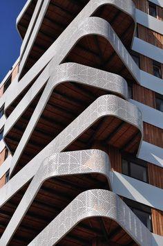 © 24H architecture Housing Hatert, Nijmegen, perforated balconies
