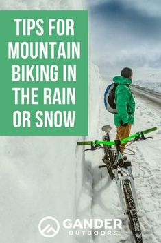 If it's not yet winter where you live, colder weather is coming. Whether that means rain or snow or both, you'll need to adjust a few things if you want to keep riding in bad weather. Don't worry! You can still get your trail time in! Just think about these things so you can be safe when you go out on the trails. Here are some tips for mountain biking in the rain or snow. #mountainbiking #cycling #biking #wintersports