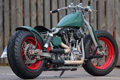 #Harley-Davdson Shovelhead Garage-Build by Björn #Thunderbike #Motorcycle
