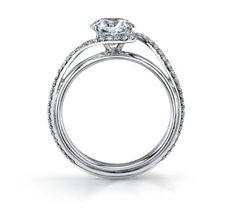 Danhov 18K White Gold Diamond Engagement Ring Setting