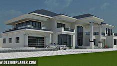 Luxury Homes – Luxury Dale Bungalow Haus Design, Duplex House Design, House Front Design, Modern House Design, Beautiful House Plans, Dream House Plans, Modern House Plans, 4 Bedroom House Designs, Bedroom House Plans