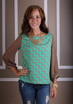 ZIGGY ZAGGY TOP  $39.99  #Page6Boutique #shoppage6