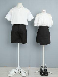 Korean Fashion Dress, Ulzzang Fashion, Korean Outfits, Asian Fashion, Fashion Couple, Teen Fashion Outfits, Cute Fashion, Matching Outfits Best Friend, Matching Couple Outfits