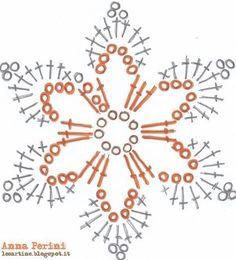 "Crochet Motif Image for ""crochet snowflakes free patterns"" Crochet Snowflake Pattern, Crochet Stars, Crochet Motifs, Crochet Snowflakes, Crochet Flower Patterns, Crochet Diagram, Thread Crochet, Diy Crochet, Crochet Crafts"