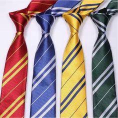 HARRY POTTER HOGWARTS HOUSE NECKTIE  Wizard School Pinstripe Costume Tie 4style #unbrand #NeckTie