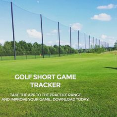 """Take your game to the practice range and get better! Download the Golf Short Game Tracker app at http://golfshortgametracker.com…"""
