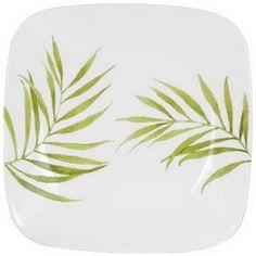 "CORELLE 1074312 Square Bamboo Leaf 10-1/4"" Dinner Plate   #Corelle"