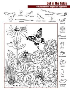 Hidden Pictures Worksheets | Activity Shelter