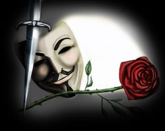 Beneath this mask there is an idea, Mr. Creedy, and ideas are bulletproof. V For Vendetta Rose. V For Vendetta Tattoo, Ideas Are Bulletproof, The Fifth Of November, Anonymous Mask, Phone Screen Wallpaper, Guy Fawkes, Awesome Anime, Arm Tattoo, Geek Stuff