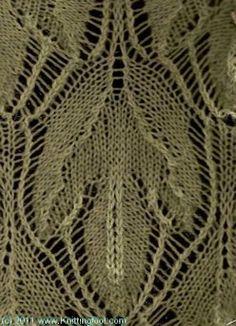 Sassafras Leaf Lace - Knittingfool Stitch Detail
