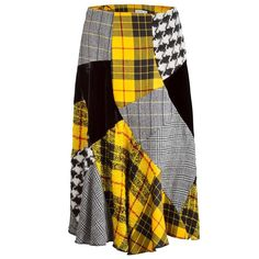 Comme des Garçons Patchwork Tartan Skirt | From a collection of rare vintage skirts at https://www.1stdibs.com/fashion/clothing/skirts/