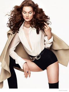 Kirsi Pyrhonen in Glam Fashion for Shxpir Shoot in Bazaar China