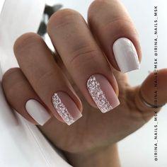Pin on neutral simple nails French Acrylic Nails, Best Acrylic Nails, May Nails, Pink Nails, Wedding Gel Nails, Wedding Makeup, Nagellack Design, Nail Photos, Neutral Nails