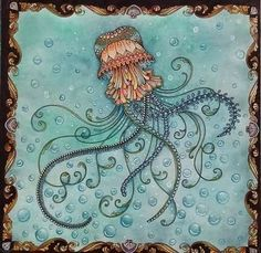 Oceano perdido...relaxando com bolinhas bolinhas bolinhas rsrs #coloringbookforadults #lostocean #johannabasford #coloringbook #coloriage
