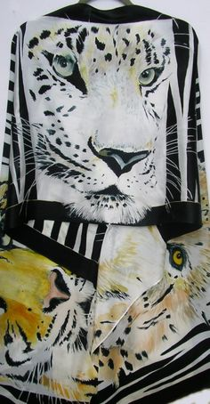JUNGLE CATS Silk Wrap 22x90 by SilkSiren on Etsy