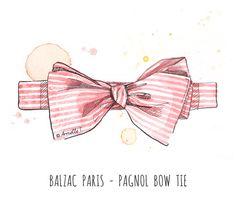 Balzac Paris bow tie - Illustration by Armelle Tissier