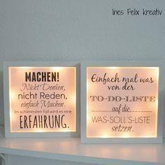 selber, machen, basteln, diy, ideen, anleitung, selbermachen, Ines Felix, Beleuchtet, Bild, IKEA, Sprüche, Freebie
