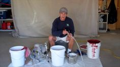 """John Burbidge, author of the book """"Watching Paint Dry,"""" demonstrates how to use a paint sprayer. Visit http://www.howtopaintahouseright.com/ to view a comple..."""