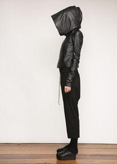 Rick Owens Hooded Biker Jacket (Black)