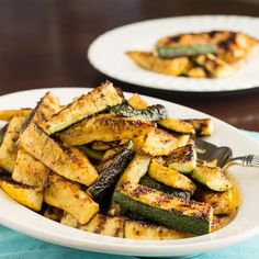 grilled zucchini and yellow squash sticks