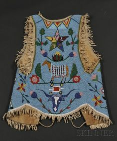 Plateau Pictograph Beaded Hide Vest | Sale Number 2563B, Lot Number 230 | Skinner Auctioneers