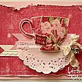 BON ANNIVERSAIRE..... VERONIQUE ! Pink Cards, Punch Art, Vintage Cards, Spring, Stampin Up, Tea Cups, Projects To Try, 2013, Card Ideas