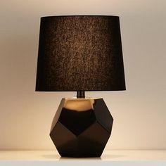 Geometric Table Lamp Base (Black) | The Land of Nod