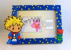 The Little Prince photo frame hama beads by PikselNerd