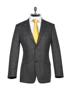 Charcoal with Lilac Tweed Check Sports Jacket - Harvie & Hudson