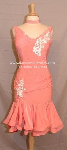 Latin Dance Costume with Laced Back