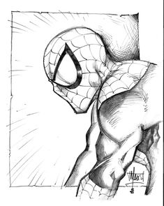 Spiderman sketch by Maus by *billmausart