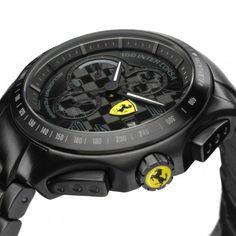 Klok Race Day zwart staal - Ferrari Store