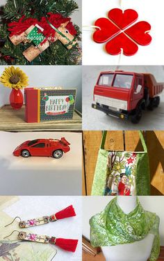 Red and green by Inita on Etsy--Pinned with TreasuryPin.com