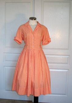 Shirt dress @ etsy http://www.etsy.com/listing/95151684/60s-dress-vintage-1960s-shirtwaist?ref=sr_gallery_25=_search_submit=_search_query=50s+dress+orange_view_type=gallery_page=5_search_type=vintage_facet=vintage