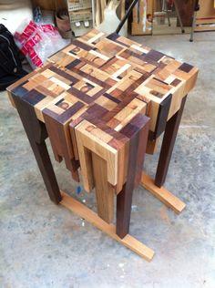 Nieuwe tafel met o.a. azobé hout (poten)