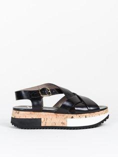 Agl Strappy Sandal Sport Bottom in Black
