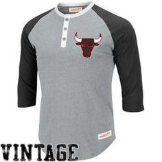 Gift Idea - Mitchell & Ness Chicago Bulls NBA Jumpball Henley T-Shirt #giftsdotcom #basketball #clothing
