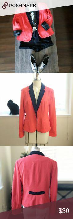 Blazer Orange Blazer in excellent condition. Size L   It's very soft. Worthington Jackets & Coats Blazers