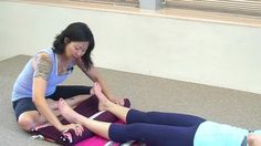 Support the Achilles' tendon and heels in reclined restorative postures with this simple technique using a blanket roll. Restorative Yoga Poses, Yoga International, Yoga Props, Iyengar Yoga, Foot Pain, Yoga For Beginners, Yoga Inspiration, Ankle, Achilles Tendon