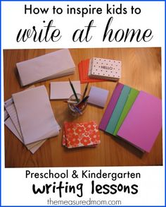 Want to get your kids interested in learning to write at home?  Check out this post for some simple ideas.