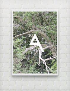 Modular Typeface - Triangle One by Alex Davies, via Behance