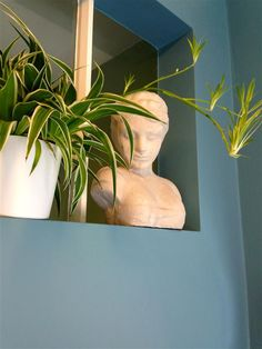 An inspirational image from Farrow and Ball - stone blue