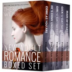 Unbroken: New Adult Romance Boxed Set * GRAB IT FOR $0.99*** NEW YORK TIMES and USA TODAY Bestselling Author Theresa Weir COME AS YOU ARE ~ HE'S COME UNDONE ~ GIRL WITH THE CAT TATTOO ~ GEEK WITH THE CAT TATTOO ~ MADE OF STARS http://www.moreforlessonline.com/romance.html Don't miss out on tomorrow's FREEBIE$ & kindle deals! Join our list! http://mad.ly/signups/89856/join #kindle #books #romance