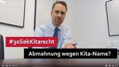 #30SekKitarecht Folge 47 Abmahnung wegen Kita-Name? Bei der Wahl des Kita-Namens die Markenrechte anderer nicht vergessen! I >> Mehr dazu auf unserer Seite...