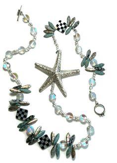 Whimsical Starfish Statement Necklace  By Courtney Andrea Fox & Van Der Muffin's Jewels  #designerjewelry #uniquejewelry #gemstones #finejewelry #oneofakind #pearljewellery #luxurystyle #hamptonsjewelry #elegantjewelry #handmadejewelry