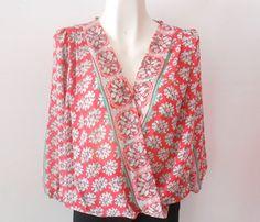 #Blusa #coral con #print muy fresca y para lucir #chic